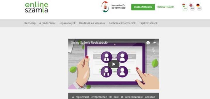 online számlázás felület